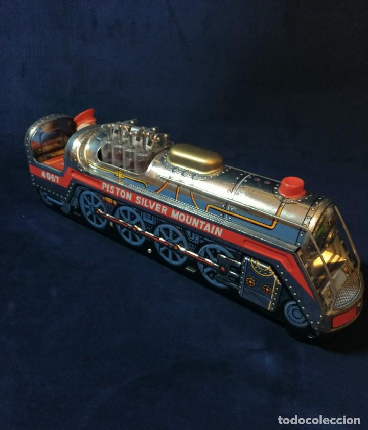 Juguetes antiguos de hojalata: Tren de Holata Expresso Piston Silver Mountain - Foto 10 - 186150103