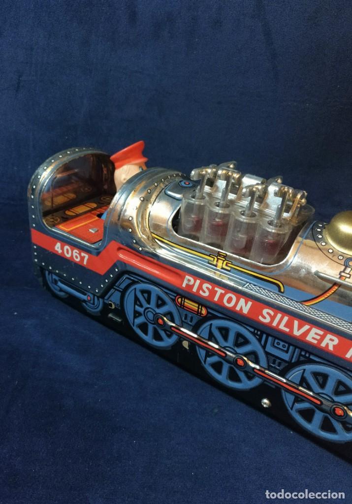 Juguetes antiguos de hojalata: Tren de Holata Expresso Piston Silver Mountain - Foto 11 - 186150103