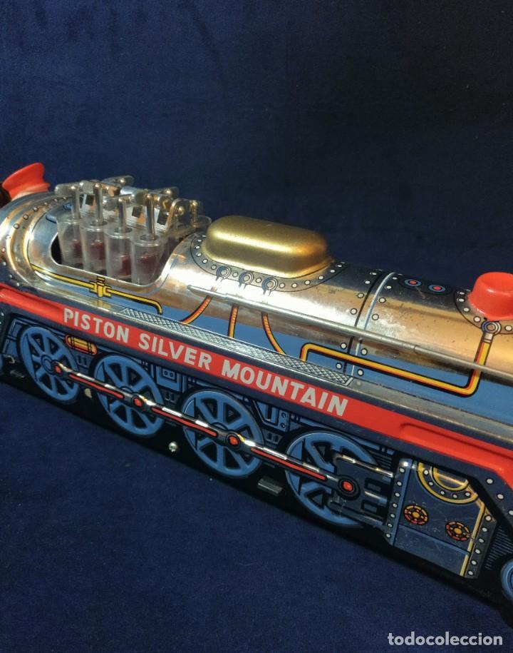 Juguetes antiguos de hojalata: Tren de Holata Expresso Piston Silver Mountain - Foto 12 - 186150103