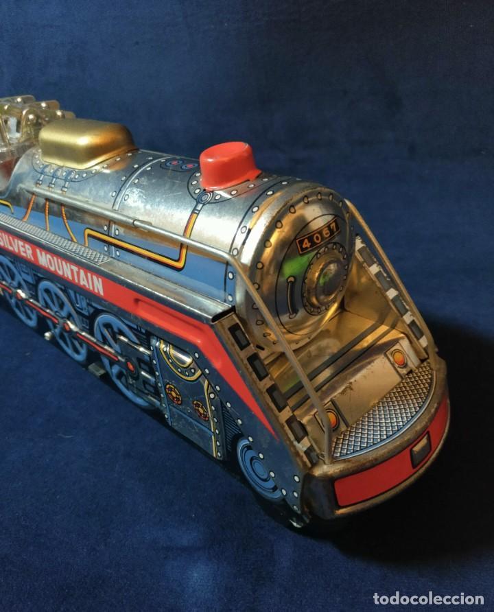 Juguetes antiguos de hojalata: Tren de Holata Expresso Piston Silver Mountain - Foto 13 - 186150103