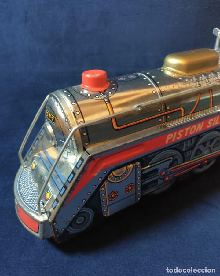 Juguetes antiguos de hojalata: Tren de Holata Expresso Piston Silver Mountain - Foto 14 - 186150103