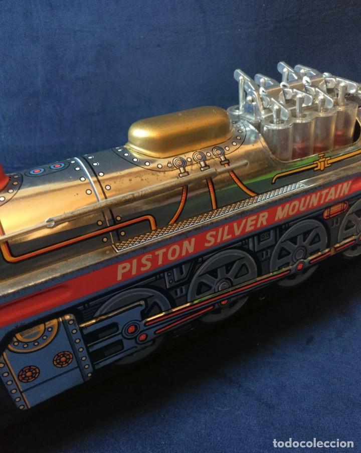 Juguetes antiguos de hojalata: Tren de Holata Expresso Piston Silver Mountain - Foto 15 - 186150103