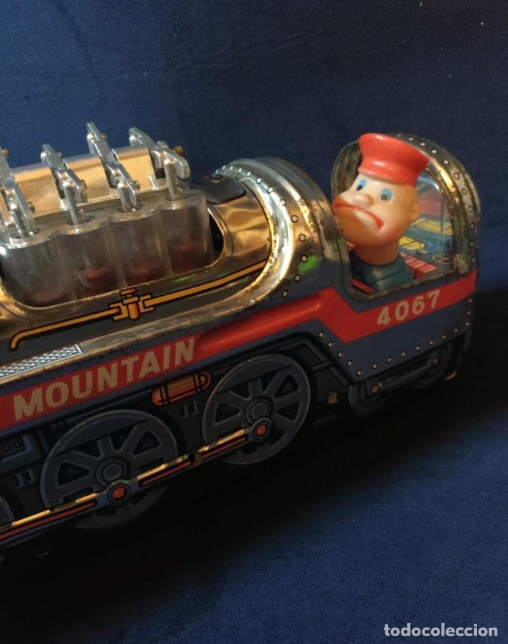 Juguetes antiguos de hojalata: Tren de Holata Expresso Piston Silver Mountain - Foto 16 - 186150103