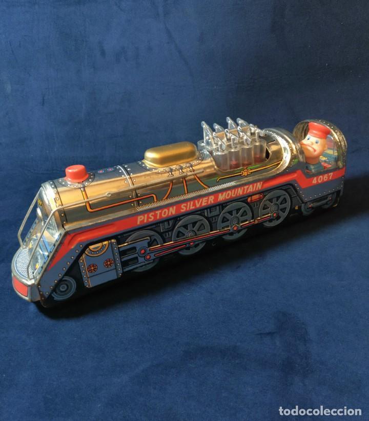Juguetes antiguos de hojalata: Tren de Holata Expresso Piston Silver Mountain - Foto 17 - 186150103