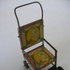 Juguetes antiguos de hojalata: SILLITA PLEGABLE RICO AÑOS 30. Lote 186175010