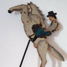 Juguetes antiguos de hojalata: JUGUETE FRANCÉS RETRO ARTICULADO EN METAL . Lote 187483896
