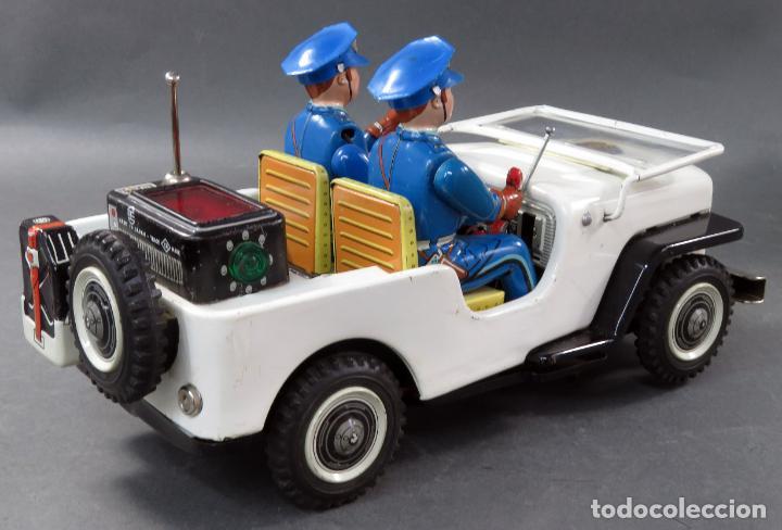 Juguetes antiguos de hojalata: Police Patrol Nomura Toys Battery Operated Japan Jeep japonés policía a pilas con caja años 60 - Foto 9 - 189091448