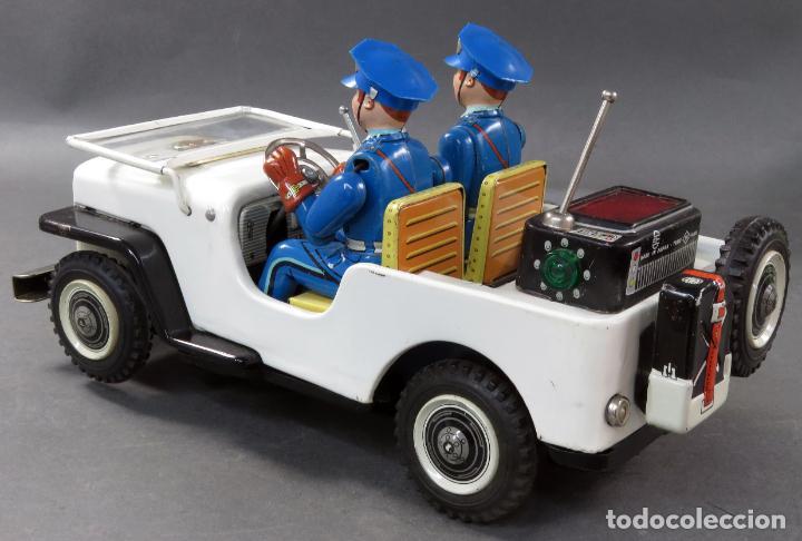 Juguetes antiguos de hojalata: Police Patrol Nomura Toys Battery Operated Japan Jeep japonés policía a pilas con caja años 60 - Foto 10 - 189091448