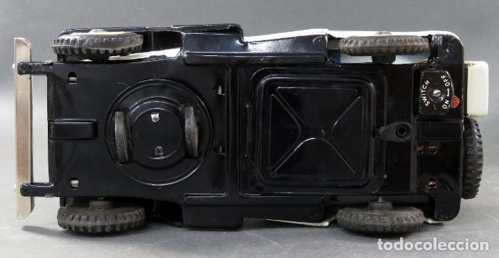 Juguetes antiguos de hojalata: Police Patrol Nomura Toys Battery Operated Japan Jeep japonés policía a pilas con caja años 60 - Foto 11 - 189091448