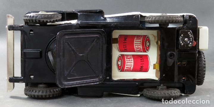 Juguetes antiguos de hojalata: Police Patrol Nomura Toys Battery Operated Japan Jeep japonés policía a pilas con caja años 60 - Foto 12 - 189091448