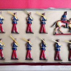 Juguetes antiguos de hojalata: CAJA SOLDADOS DE PAYA.. Lote 189406622