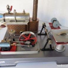 Juguetes antiguos de hojalata: CONJUNTO ANTIGUA MAQUINA TALLER VAPOR WILESCO 1969 - CON CATALOGO ORIGINAL. Lote 189409555