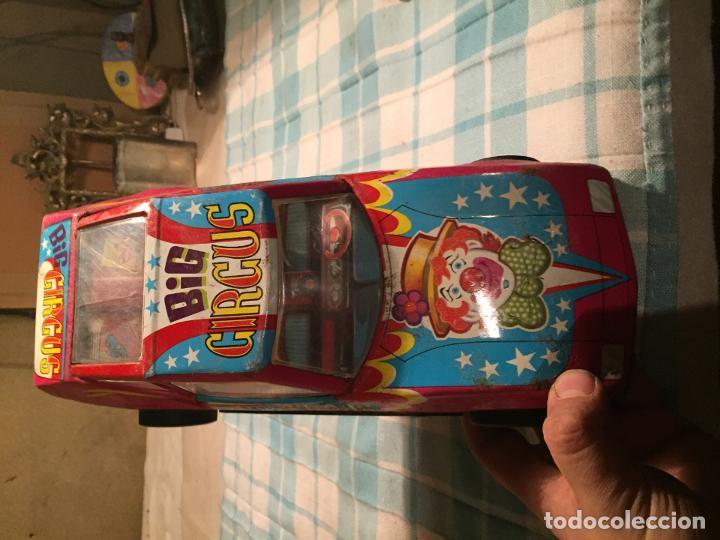Juguetes antiguos de hojalata: Antiguo coche de juguete modelo Big circus marca Roman años 70 - Foto 3 - 189596996