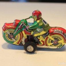 Juguetes antiguos de hojalata: MOTO MOTOCICLETA CHAPA JUGUETE DE HOJALATA DE FRICCION. Lote 190732301