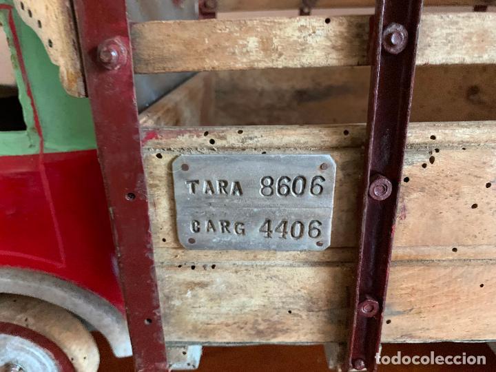 Juguetes antiguos de hojalata: CAMION PEGASO Z-202 73 CMS AÑOS 50 - Foto 7 - 190852410