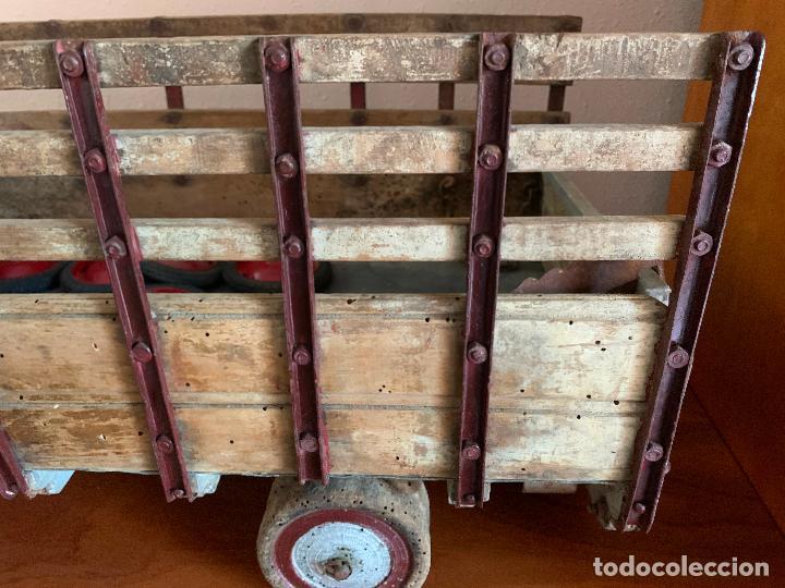 Juguetes antiguos de hojalata: CAMION PEGASO Z-202 73 CMS AÑOS 50 - Foto 8 - 190852410