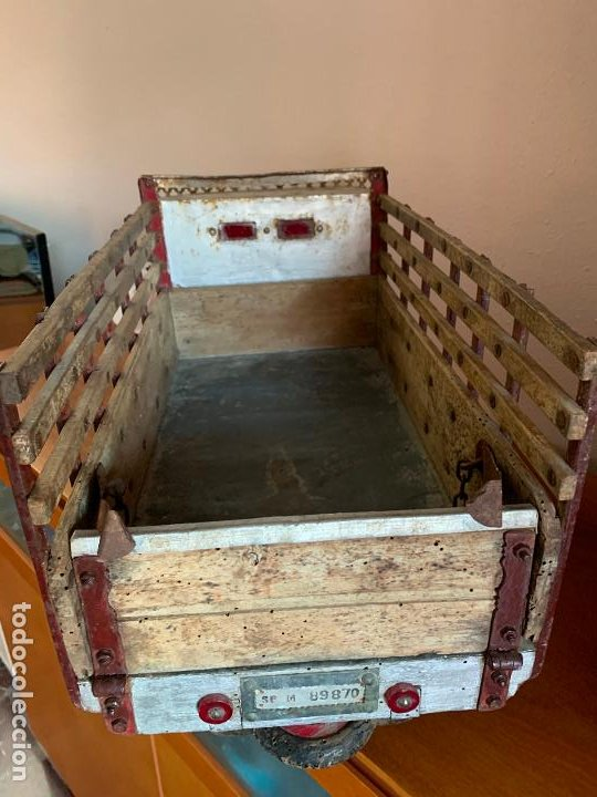 Juguetes antiguos de hojalata: CAMION PEGASO Z-202 73 CMS AÑOS 50 - Foto 15 - 190852410