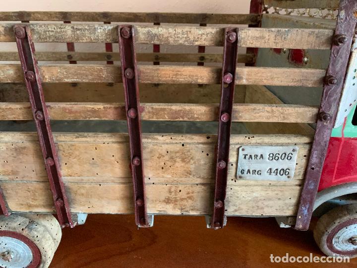 Juguetes antiguos de hojalata: CAMION PEGASO Z-202 73 CMS AÑOS 50 - Foto 21 - 190852410