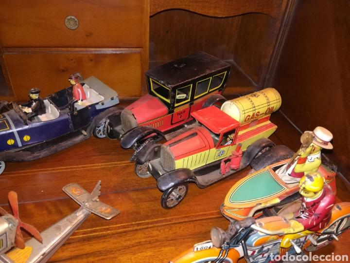Juguetes antiguos de hojalata: Lote de 9 viejos juguetes de hojalata PH - Foto 2 - 190875717