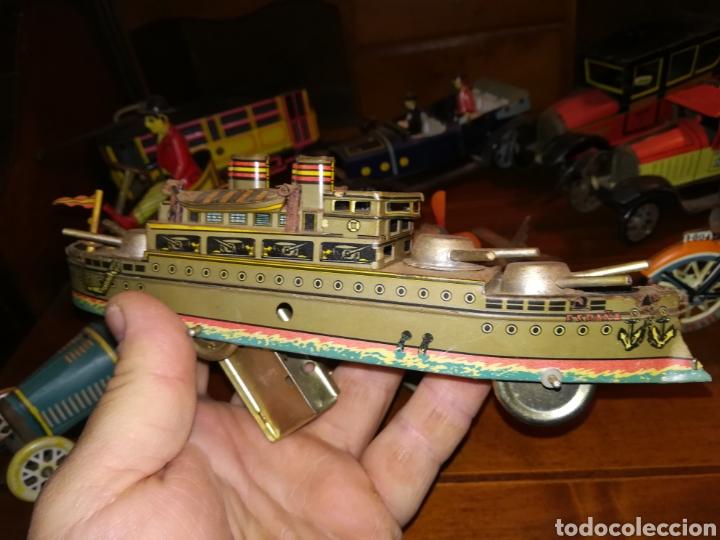 Juguetes antiguos de hojalata: Lote de 9 viejos juguetes de hojalata PH - Foto 5 - 190875717