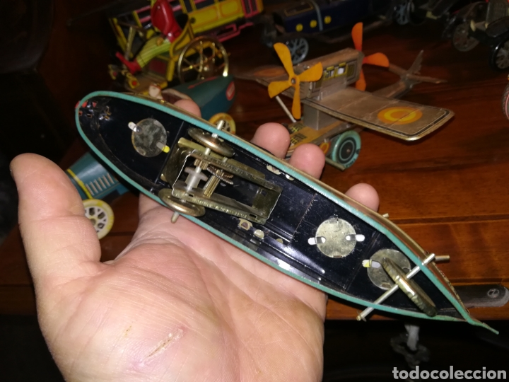 Juguetes antiguos de hojalata: Lote de 9 viejos juguetes de hojalata PH - Foto 6 - 190875717