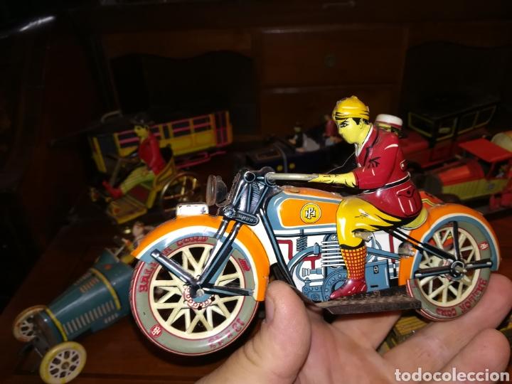 Juguetes antiguos de hojalata: Lote de 9 viejos juguetes de hojalata PH - Foto 7 - 190875717