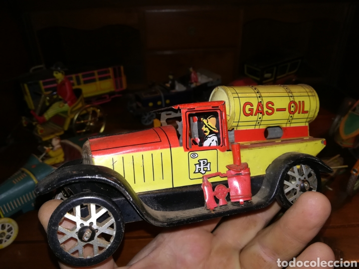 Juguetes antiguos de hojalata: Lote de 9 viejos juguetes de hojalata PH - Foto 9 - 190875717