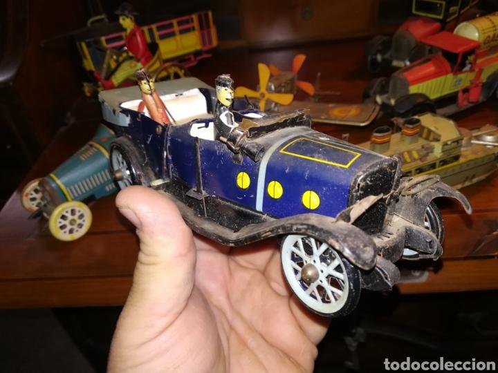 Juguetes antiguos de hojalata: Lote de 9 viejos juguetes de hojalata PH - Foto 13 - 190875717