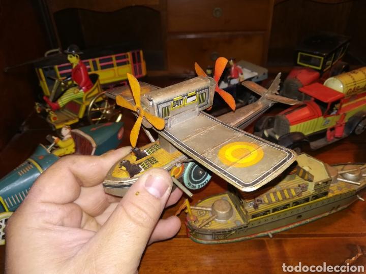 Juguetes antiguos de hojalata: Lote de 9 viejos juguetes de hojalata PH - Foto 15 - 190875717