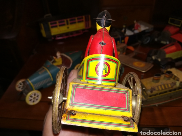 Juguetes antiguos de hojalata: Lote de 9 viejos juguetes de hojalata PH - Foto 17 - 190875717
