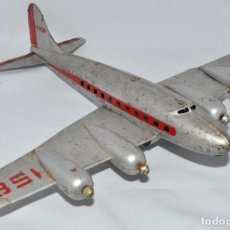 Juguetes antiguos de hojalata: AVION DC-4 DE RICO, AEROPLANO, IBI. Lote 190897486