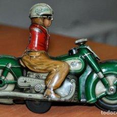Juguetes antiguos de hojalata: MOTO SCHUCO CURVO 1000, MADE IN U.S. ZONE GERMANY. Lote 190987751