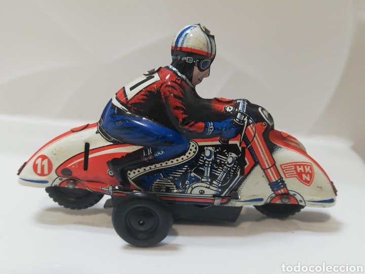 Juguetes antiguos de hojalata: Huki moto alemana - Foto 2 - 191300296