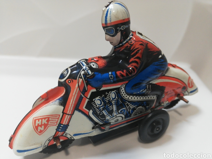Juguetes antiguos de hojalata: Huki moto alemana - Foto 4 - 191300296