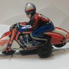 Juguetes antiguos de hojalata: HUKI MOTO ALEMANA. Lote 191300296