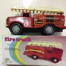 Juguetes antiguos de hojalata: FIRE TRUCK -FRICTION -MF 163. Lote 191461056