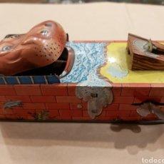 Juguetes antiguos de hojalata: HIPO BANCO. Lote 191824138