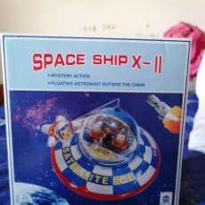 Juguetes antiguos de hojalata: NAVE ESPACIAL * SPACE SHIP X - II *** VINTAGE DE HOJALATA NUEVO EN CAJA **. Lote 192052277