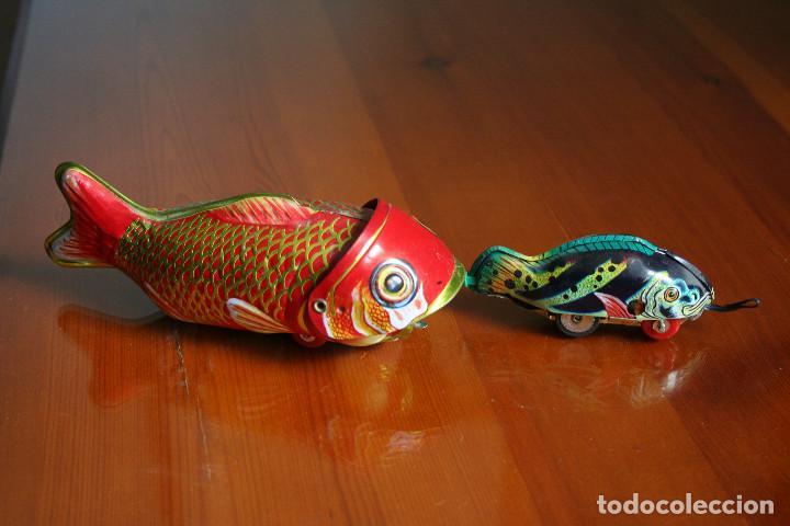 PEZ GRANDE PEZ CHICO (Juguetes - Juguetes de Hojalata: Reproducciones y Actuales )