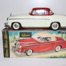 Juguetes antiguos de hojalata: MERCEDES 220 SCHUCO ROLLFIX 1085 ORIGINAL DE 1960 CON CAJA,NUNCA USADO.. Lote 193564818