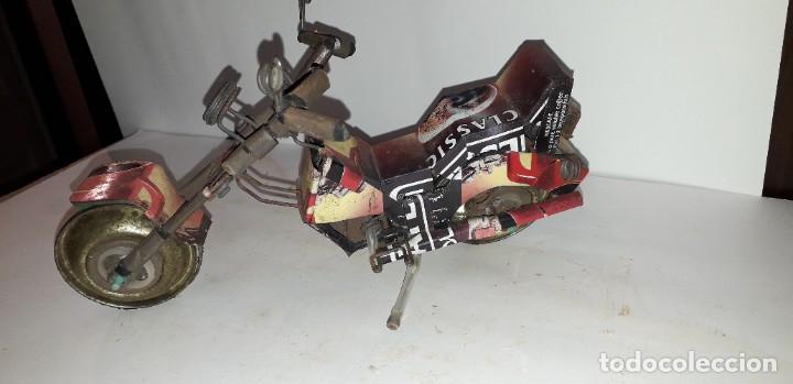 Juguetes antiguos de hojalata: MOTO ARTESANAL CLASSIC - Foto 2 - 193705116
