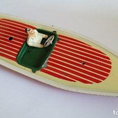 Juguetes antiguos de hojalata: CANOA DE RICO. Lote 194010357