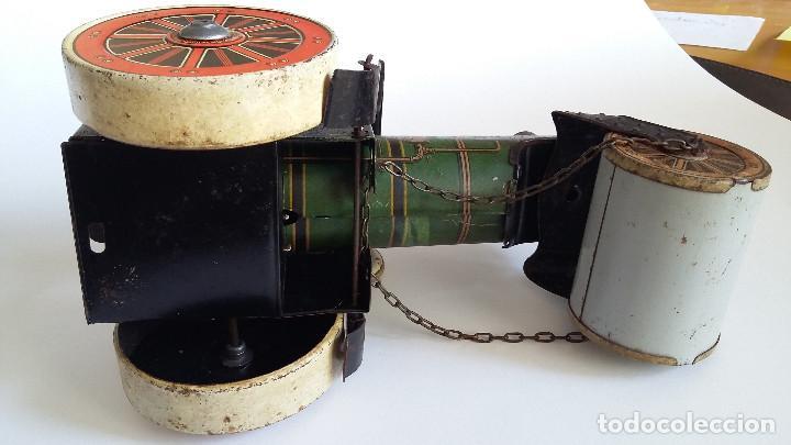 Juguetes antiguos de hojalata: APISONADORA, de fabricacion Alemana, de hojalata - Foto 4 - 194010812
