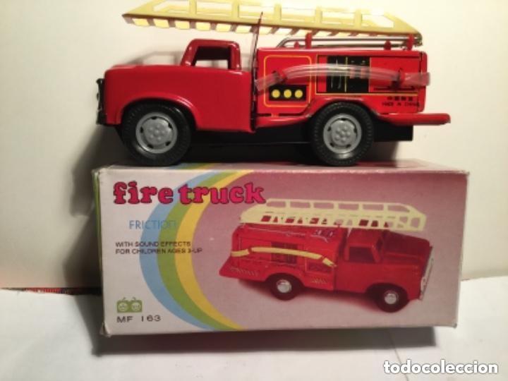 FIRE TRUCK - FRICTION- 15 CM (Juguetes - Juguetes de Hojalata: Reproducciones y Actuales )