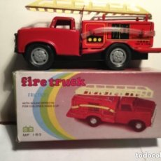 Juguetes antiguos de hojalata: FIRE TRUCK - FRICTION- 15 CM. Lote 194064242