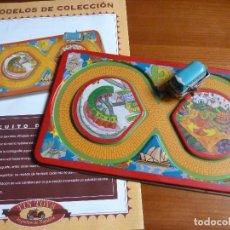 Juguetes antiguos de hojalata: TIN TOYS-CIRCUITO DE CARRERAS·REPR. JUGUETE DE HOJALATA- MODELOS DE COLECCION. Lote 194273567