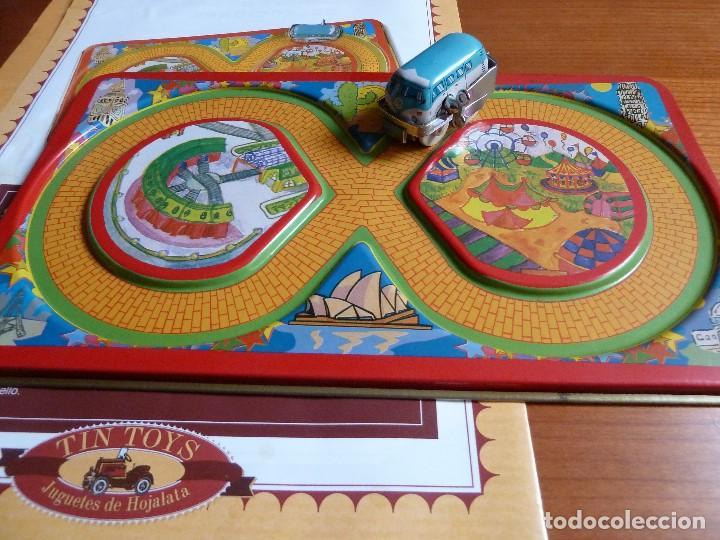 Juguetes antiguos de hojalata: TIN TOYS-CIRCUITO DE CARRERAS·REPR. JUGUETE DE HOJALATA- MODELOS DE COLECCION - Foto 2 - 194273567