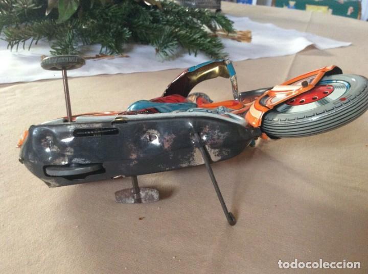 Juguetes antiguos de hojalata: ANTIGUA MOTO TECHNOFIX AÑOS 50 HOJALATA LITOGRAFIADA A CUERDA FUNCIONANDO 325,00 eur - Foto 5 - 194296818