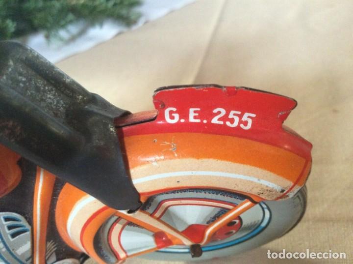 Juguetes antiguos de hojalata: ANTIGUA MOTO TECHNOFIX AÑOS 50 HOJALATA LITOGRAFIADA A CUERDA FUNCIONANDO 325,00 eur - Foto 7 - 194296818