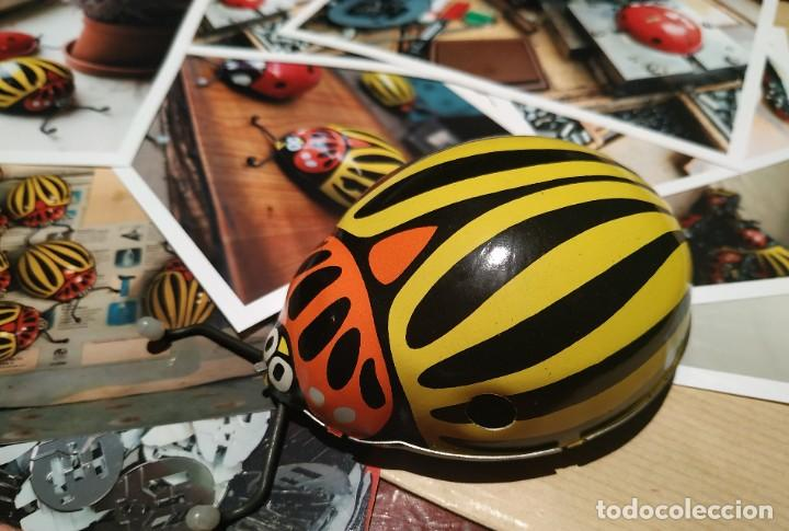 Juguetes antiguos de hojalata: Escarabajo Juguete de Hojalata antiguo cuerda Y fotos fabrica - Foto 3 - 194348255